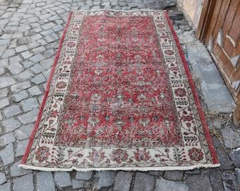 King Size Rare Turkish Rug 3.9x 6.9 ft. Free Shipping Oushak Rug Large Rug Boho Rug turkish home decor rug bohemian rug floor rug  MB179
