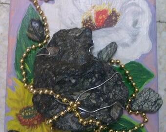Meteorite Chondrite handmade art 100% natural / 1 200gr