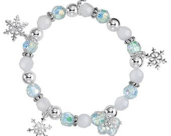 Winter Snowflake Stretch Bracelet