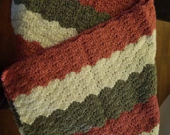 Baby Afghan's, crochet, handmade, White, Tri-Color,Blues