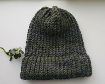 Teen Green/Grey Beanie
