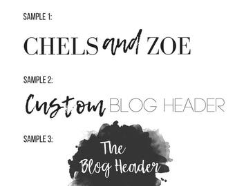 Custom Blog Header/Logo