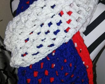 American Neck Scarf, Bright colors, Blue, White, Red, American Flag, Any occassion gifts, men and boys gift, Women and girl gifts