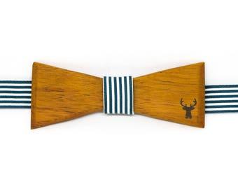 Bow tie classic wooden - bilinga