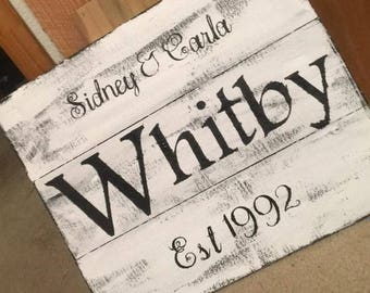 Personilized Distressed Name signs