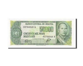 bolivia 50000 pesos bolivianos 1984 km #170a 1984-06-05 unc(60-62)...