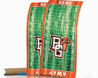 Bowling Green Falcons Distressed Football Field Cornhole Wraps