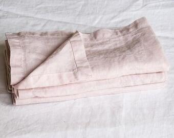 Washed large linen napkins, Linen Napkins, cloth napkins, cloth dining napkins, washed handmade linen napkins.