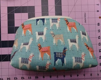 Colorful Llamas Zipper Bag