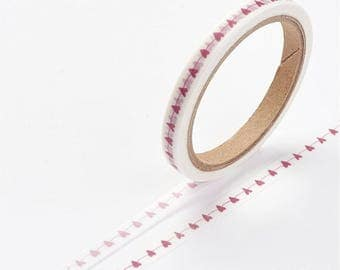 Heart/Valentines Washi Tape - 5mm x 7 Meters - #SW109
