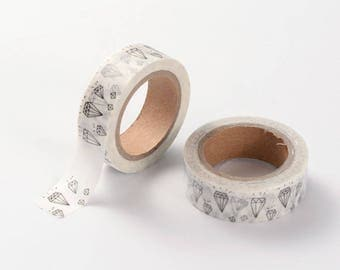 Diamonds Washi Tape - 15mm x 10 Meters - #SW129