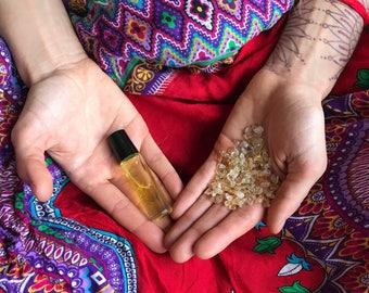 Solar Plexus Chakra Crystal Oil Blend