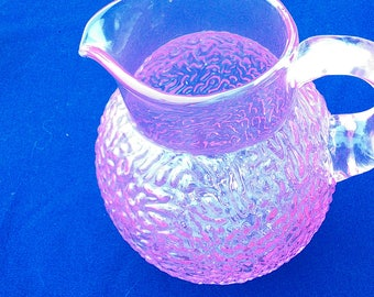 Anchor Hocking milano and lido pink juice pitcher