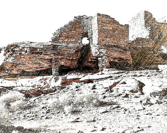 Digital Photograph of the Pueblo at Wupatki National Monument