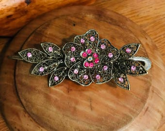 Pink Hair Clip Accessory.