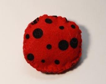 Ladybug Round Catnip Toy