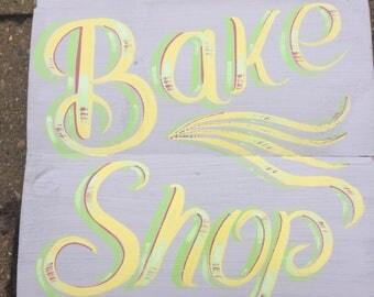 handpainted wooden sign, bake sign, kitchen sign, cafe sign