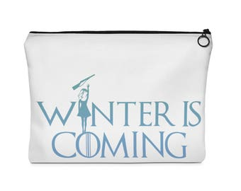 Winter Guard Is Coming (Girl Rifle)  Carry All Pouch - Flat - (Two Sizes) WGI / WinterGuard