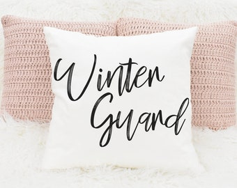 WinterGuard - Square Pillow - Winter Guard, WGI, ColorGuard, Sabre