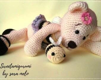 bee bear amigurumi crochet toy