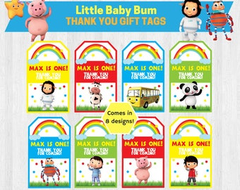 Little Baby Bum Birthday Party Gift Tags/ Thank You Tag/ Thank You Favours Printable