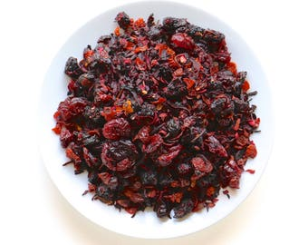 Maroon Cherry Loose Leaf Fruit Tea Loose Leaf Fruit Tisane 4oz