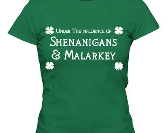 St. Patrick's Day T-Shirt Under The Influence Women's Fitted T-Shirt