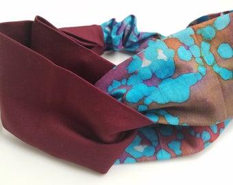 Women's Headband Tie-Dye | Boho Headband | Yoga Headband | Cotton Headband