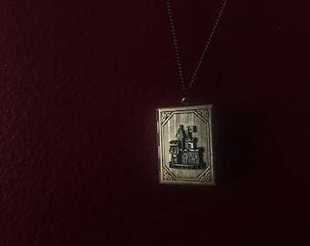 Fairytale castle locket