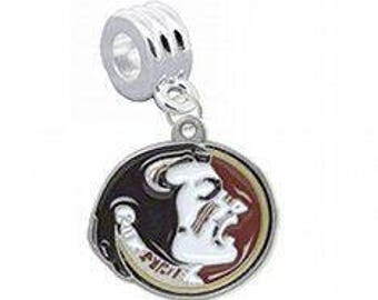 FLORIDA SEMINOLES Silver Plated Charm w/ Connector
