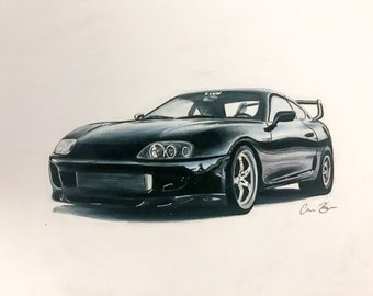 Toyota Supra Drawing