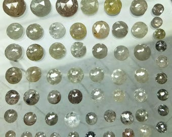 100% Natural Rosecut Faceted Diamonds In All sizes