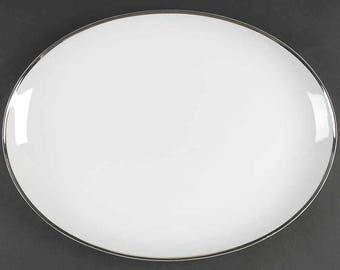 "16"" Oval Serving Platter Moon Glow by YAMATO"