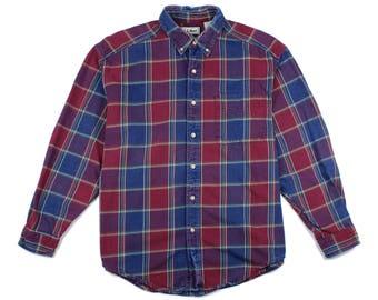 1990s L.L.Bean Plaid Shirt