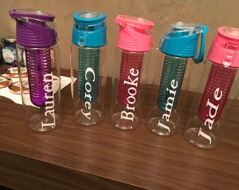 Personalised water bottle infuser