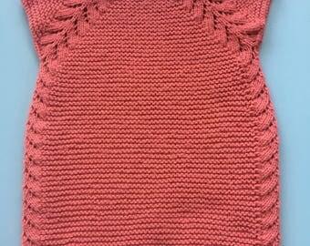 Hand Knitted Girls Dress