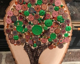 Tree of Life - String & Button Art