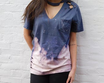 Vintage Distressed Acid Wash T-Shirt