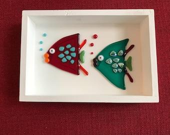 "Fused Glass ""2 Fish"""