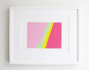 Pink Silkscreen Print