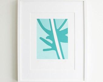 Feather Silkscreen Print