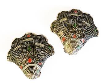 Vintage German Fan Earrings