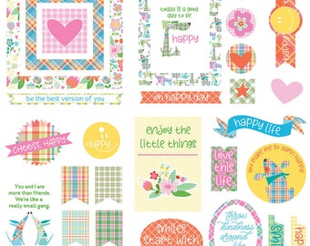 Photo Play Mad4Plaid Happy Cardstock Die Cuts