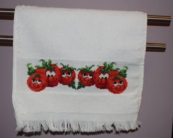 Cross Stitched Guest/Hand Towel