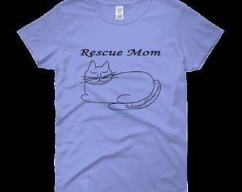 Rescue Mom Cat Tshirt