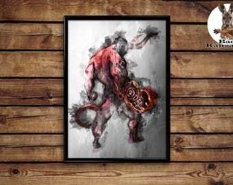 Hellboy print wall art home decor poster