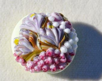 Artisan Lamp Work Floral Pendant- Lot 3