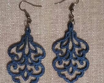 Sapphire Blue Chandelier Earrings
