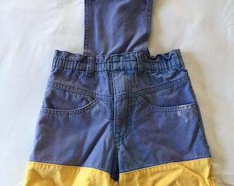 Vintage Piccolino Denim Overall Shorts