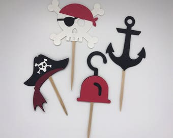 Pirate Party Cupcake Toppers - First Birthday - Birthday Party